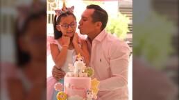 Así celebró Edwin Luna el cumpleaños de su hija Dasha