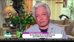 Alberto Vázquez se recupera de una parálisis de rostro