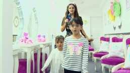 Marisol González consiente a sus hijas llevándolas a un lujoso spa para niñas