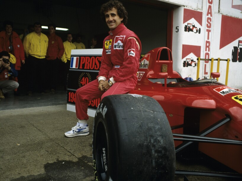 ALAIN PROST IN IMOLA, ITALY