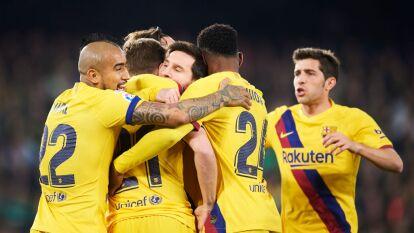 Partidazo en el Benito Villamarín entre el Betis y el Barcelona por la Jornada 23 de La Liga, Guardado y Lainez no estuvieron convocados.