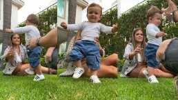 Mariana Echeverría presume muy orgullosa los primeros pasitos de su bebé