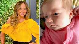 La bebé de Jorge 'El Burro' Van Rankin se roba el corazón de Andrea Legarreta, gracias a sus profundos ojos azules