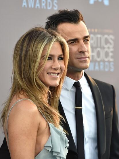 Tras casi tres años de estar juntos, Jennifer Aniston y Justin Theroux se divorciaron (FOTO: AP)