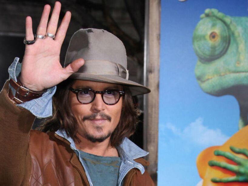 4. Rango (2011): Depp prestó su voz para darle vida a una lagartija que es abandonada en un desierto con personajes un poco raros.