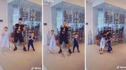 Hijos de Ozuna le enseñan a bailar en TikTok y él los recompensa con un beso