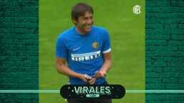 ¡Son como niños! Antonio Conte en el entrenamiento del Inter