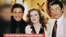 ¿Fernando Colunga está de luto por la muerte de su papá?