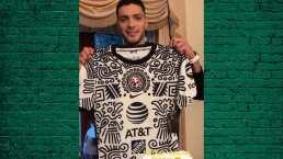 Raúl presumió en redes su nuevo jersey especial del América