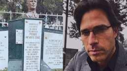 Sebastián Rulli visitó la tumba de Pedro Infante y esta es la razón