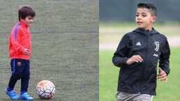 Thiago Messi vs. CR7 Jr.: los goles de los pequeños cracks