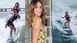 Las hijas de Jacky Bracamontes sorprenden al surfear en Miami