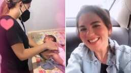 Zoraida Gómez lleva a su bebé al pediatra y presume que todo está perfecto con Maximiliano