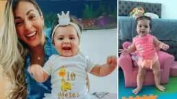 'La Jarocha' se emociona al ver a su hija dar sus primeros pasitos