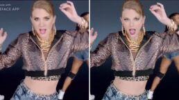 Erika Buenfil se transforma en Taylor Swift y sorprende al bailar como ella uno de sus éxitos
