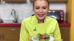 Cocina de hoy: Esta receta es ideal para el estilo vegano, tacos de lechuga con salsa de cacahuate