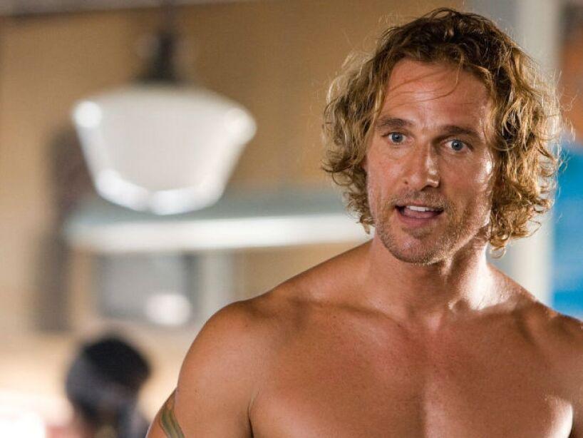 7. Matthew McConaughey: Este rubio actor no gusta de usar desodorante o colonia para disimular su mal olor.