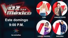 Este domingo disfruta La Voz... México a las 9:00 P.M.