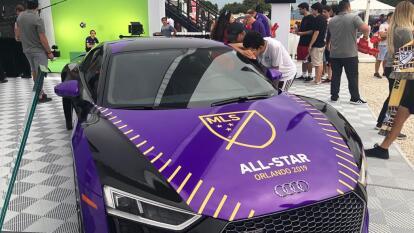 El patrocinador del MLS All Star Game preparó este automóvil deportivo.