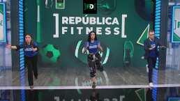 ¡Para anotar! Félix y Lindsay entrenan en República Fitness