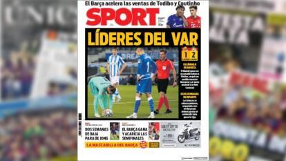 Sport lo tiene claro: 'Líderes del VAR' luego de que anularan un gol legítimo en contra del Madrid y estos se llevaran los tres puntos.