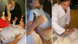 Este fue el proceso por el que Sharon Fonseca se sometió para calcar su pancita de embarazada