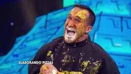 ¡Pobrecito! Guana termina con salsa de tomate en los ojos en 'Manos a la obra'