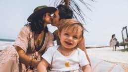 Así fue cómo despertaron Mauricio Ochmann y Aislinn Derbez a su hija Kailani en su cumpleaños