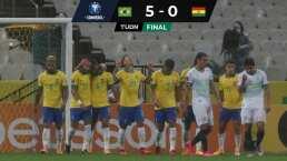 Neymar se va sin gol en goleada de Brasil a Bolivia