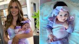 'Ella sonríe y yo muero de amor': 'La Jarocha' al ver a su bebé Luciana regalarle una tierna sonrisa