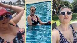 Erika Buenfil conquista a sus seguidores al presumir su figura en traje de baño