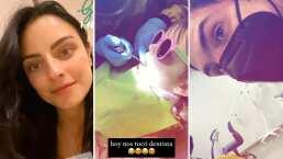 Kailani va al dentista mientras Aislinn Derbez y Mauricio Ochmann la animan para que no tenga miedo