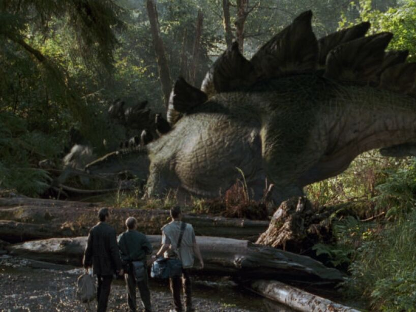 Stegosaurus (Jurassic Park 2): su nombre significa reptil con tejado, vivió hace 144 millones de años,