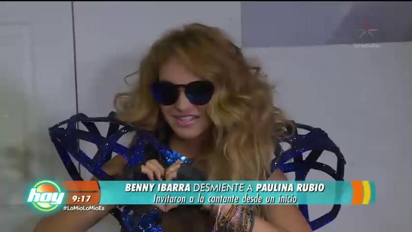 Benny Ibarra desmiente a Paulina Rubio