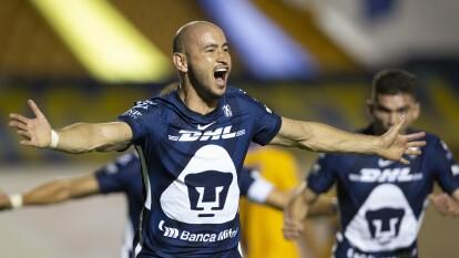 Pumas - 6 goles, empatados en la décima posición junto al paraguayo aparecen Pedro Alexis Canelo, Germán Berterame y Federico Viñas.
