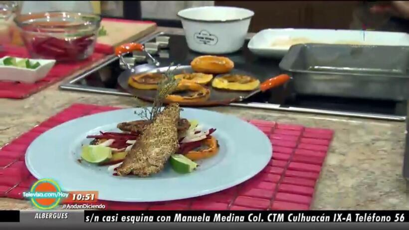 Cocina Milanesas de res con ensalada TRI