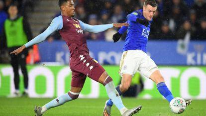 El Leicester City empata 1-1 con el Aston Villa; Guilbert abrió el marcador para la visita, Iheanacho igualó la ida de la semifinal de la Carabao Cup.