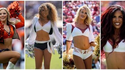 Con su belleza, simpatía y alegría, las cheerleaders llevan el ritmo a los estadios de la NFL.