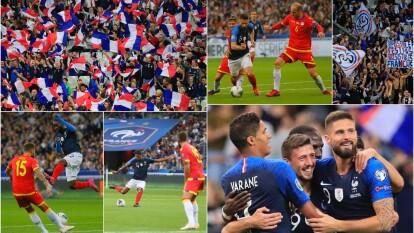 Los franceses ganan tres goles a cero a Andorra.