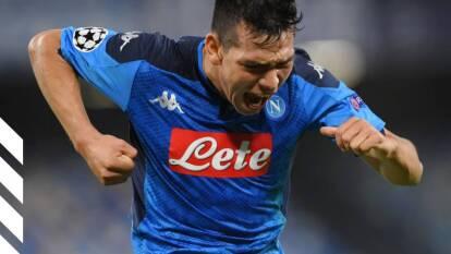 El atacante mexicano, Hirving Lozano, anotó luego de tres partidos sin conseguir hacerlo en la Champions League.