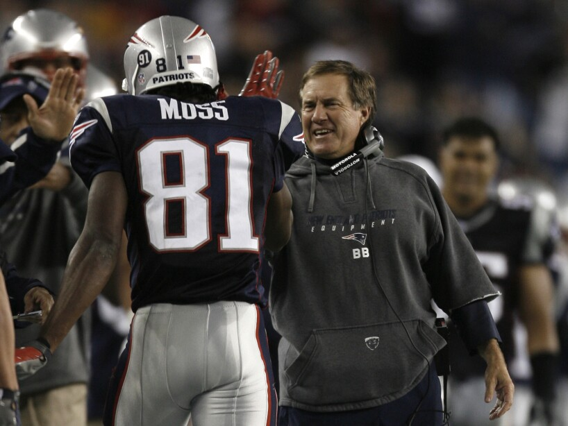 Randy Moss, Bill Belichick