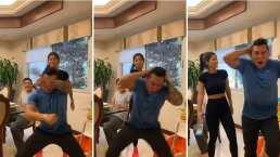 Kimberly Flores 'golpea' a Edwin Luna y así reaccionó el hijo mayor de la modelo
