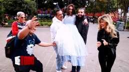 Famosas hacen fiesta de XV años en la calle