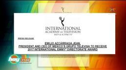 Emilio Azcárraga Jean, Presidente de Grupo Televisa, recibirá el premio International Emmy Directorate