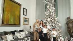 Elizabeth Álvarez y Jorge Salinas muestran su gigantesco árbol de Navidad con muñecos de peluche