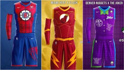 Así lucen las novedosas indumentarias que invento un diseñador dedicada para los equipos de la NBA.
