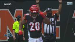 Joe Mixon aguanta el castigo, pero logra el TD para los Bengals