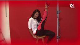 ¡María León te enseña cómo practicar Pole Dance!