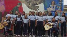 El coro de niñas que engalanará con el himno de México el GP de F1