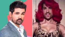 Ferdinando Valencia se transforma en una atractiva pelirroja y así reacciona su esposa